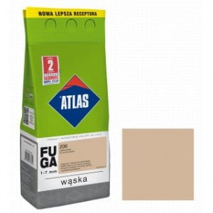 ATLAS FUGA WĄSKA Zaprawa do spoin (1-6 mm) kolor 206 CAPPUCCINO 5KG