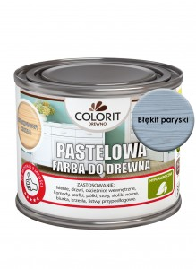Colorit Pastelowa Farba Do Drewna Błękit Paryski 375Ml