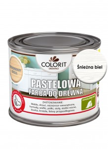 Colorit Pastelowa Farba Do Drewna Śnieżna Biel 375Ml