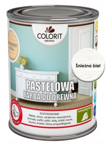 Colorit Pastelowa Farba Do Drewna Śnieżna Biel 750Ml