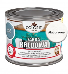 Colorit Farba Kredowa Do Drewna Alabastrowy 375Ml