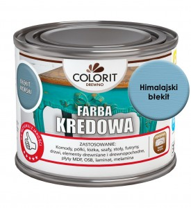 Colorit Farba Kredowa Do Drewna Himalajski Błękit 375Ml