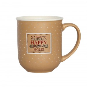 HAPPY HOME KUBEK 300 ML BEŻOWY NBC