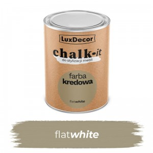 LuxDecor Farba Kredowa Chalk-It Flat White 0,75 L