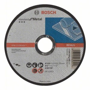 Bosch Tarcza tnąca prosta Standard for Metal 125mm