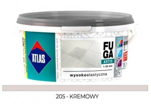 ATLAS FUGA ARTIS Zaprawa do spoin (1-25 mm) kolor 205 KREMOWY 5KG