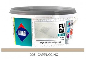ATLAS FUGA ARTIS Zaprawa do spoin (1-25 mm) kolor 206 CAPPUCCINO 5KG
