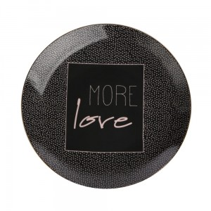 MORE LOVE TALERZ DESEROWY 20CM BLACK