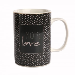 MORE LOVE KUBEK PROSTY 350ML BLACK