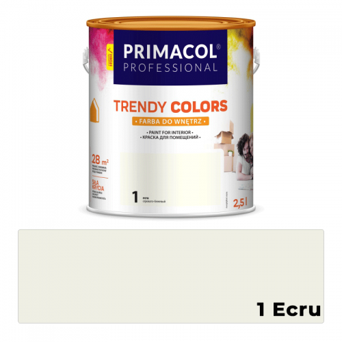 Farba do Wnętrz Primacol Trendy Colors Ecru 2,5L