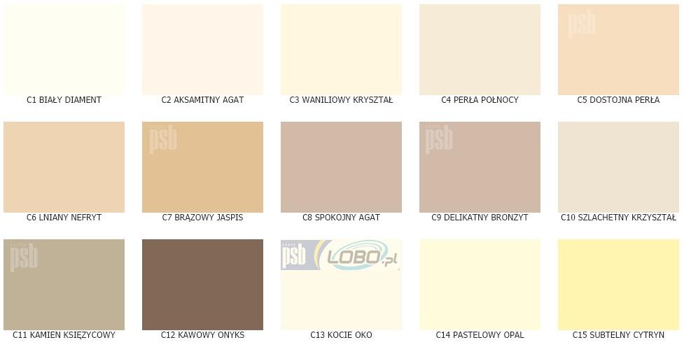 Tester Próbka Magnat Ceramic 56 Kolorów Farba Ceramiczna