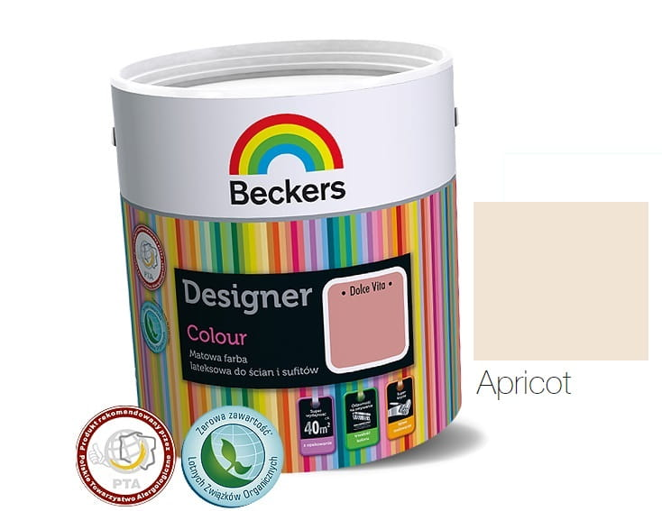 BECKERS DESIGNER COLOUR APRICOT 2,5L