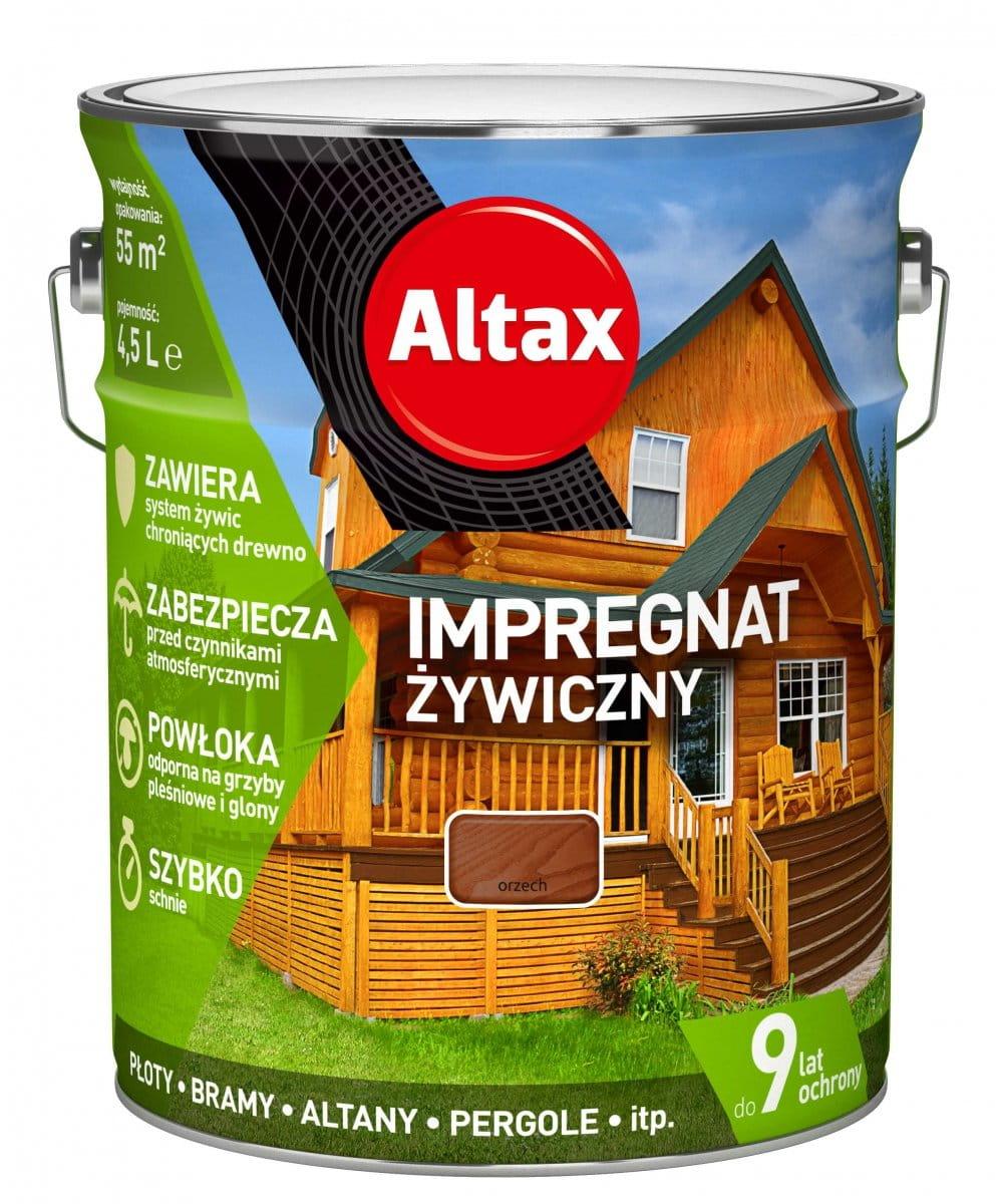 ALTAX IMPREGNAT ŻYWICZNY 4,5L ORZECH