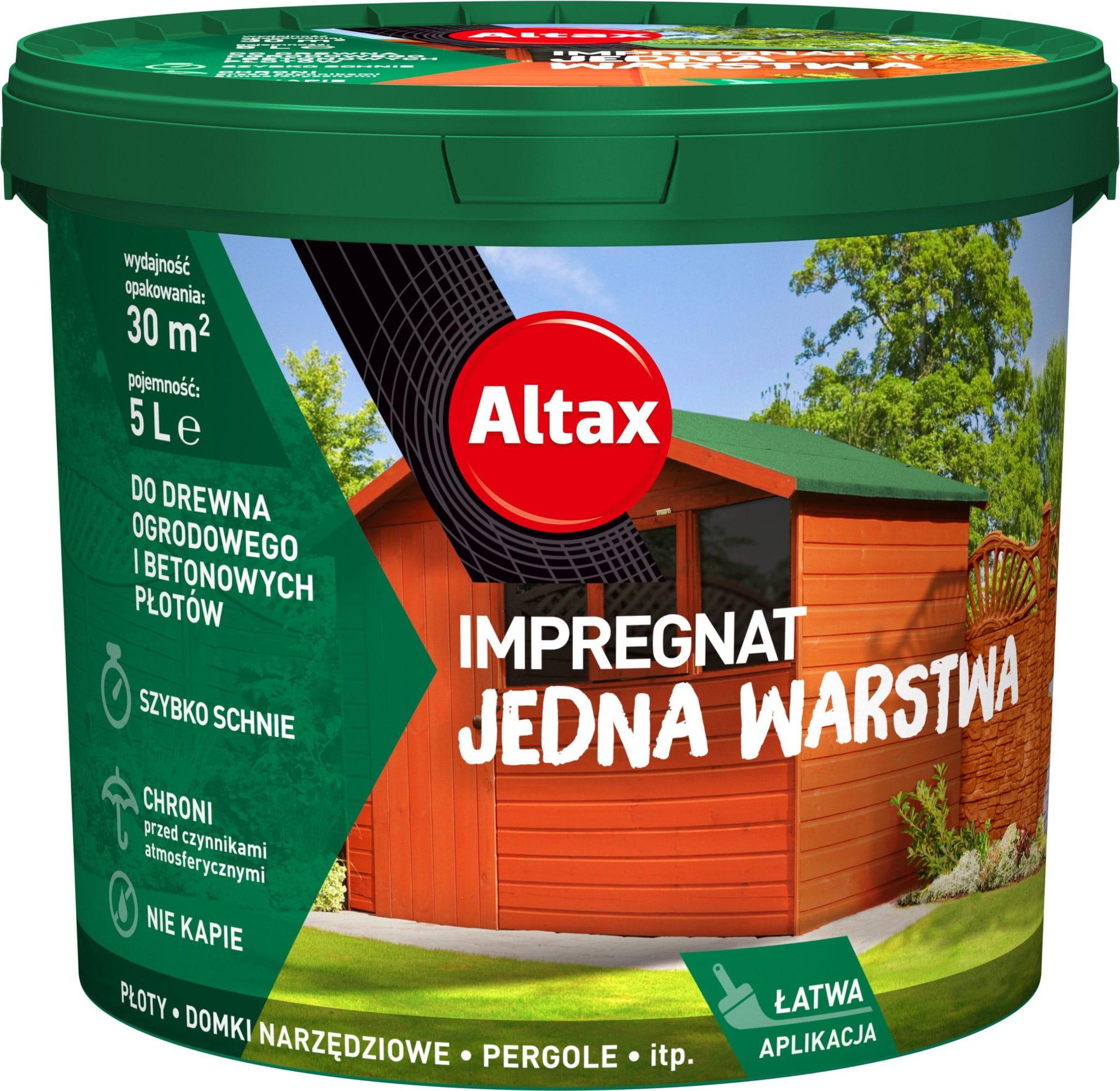 Altax Impregnat Do Drewna Ogrodowego Jedna Warstwa 5L Piaskowiec