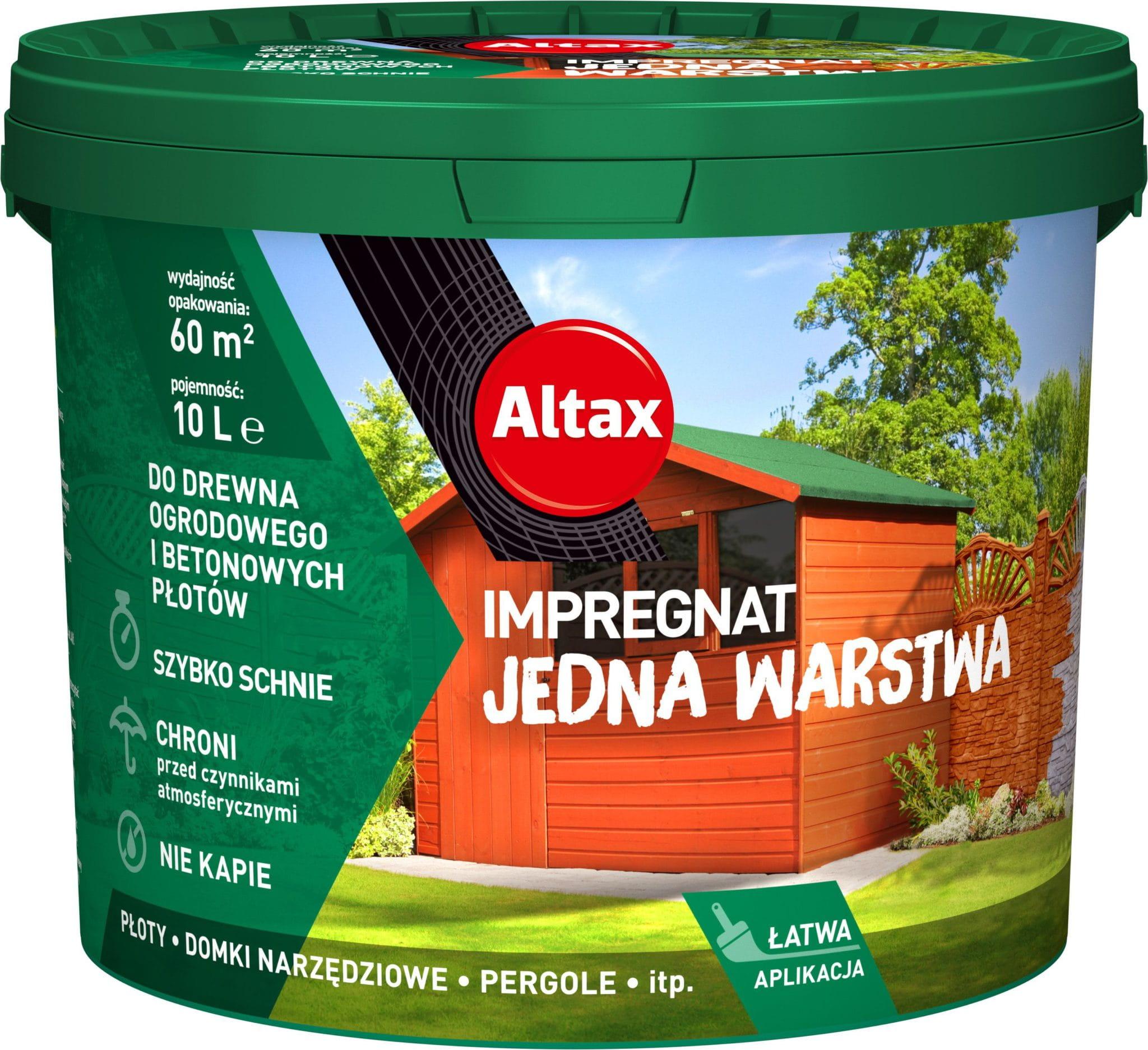 Altax Impregnat Do Drewna Ogrodowego Jedna Warstwa 10L Mahoń