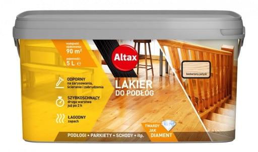 Altax Lakier Do Podłóg Bezbarwny Połysk 5L