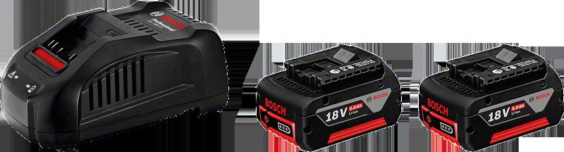 2 akumulatory GBA 18V 5.0Ah + ładowarka GAL 1880 CV