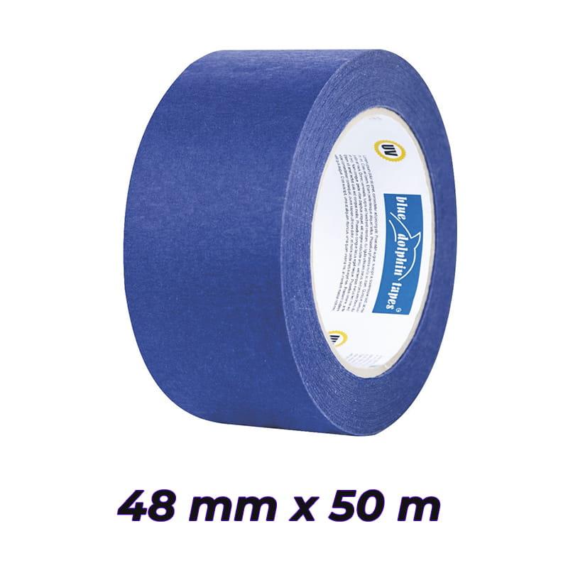 BLUE DOLPHIN taśma papierowa niebieska 48mm x 50m