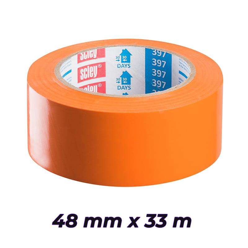 SCLEY taśma ochronna tynkarsko-malarska KAEM 48mm x 33m 397 pomarańczowa