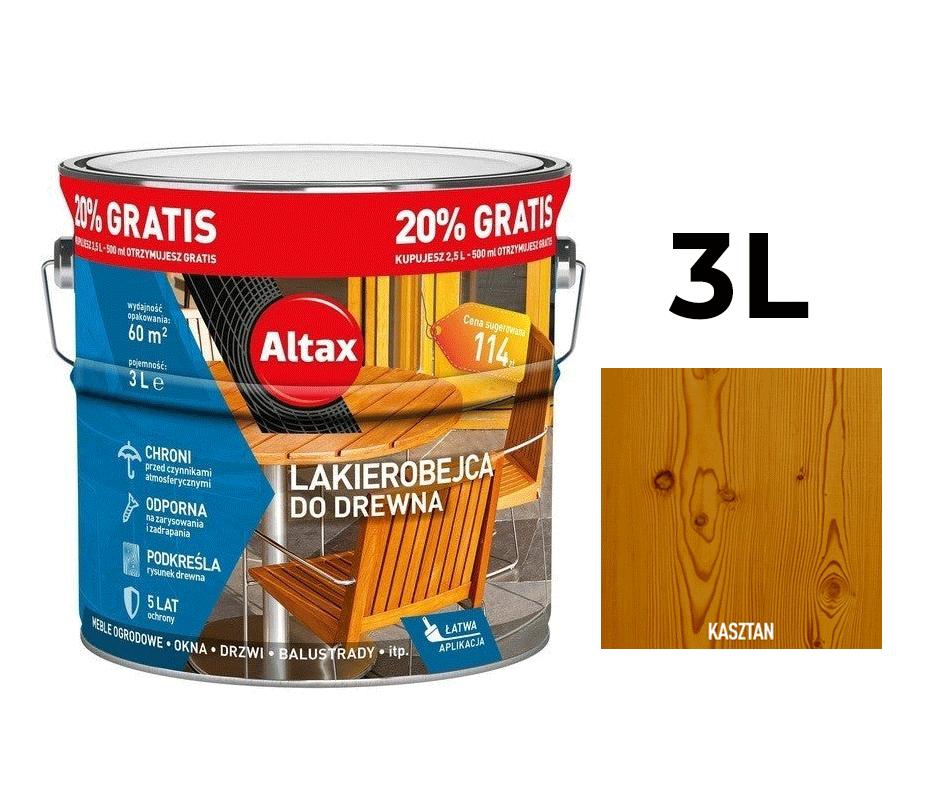 Altax Lakierobejca do Drewna 3L Kasztan