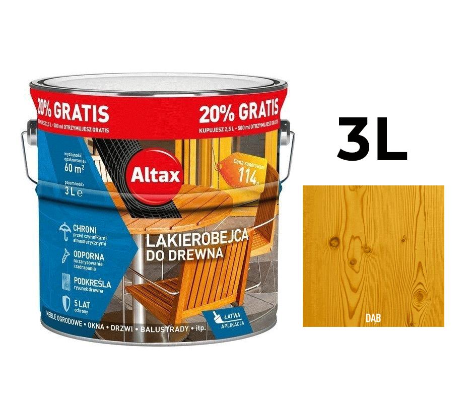 Altax Lakierobejca do Drewna 3L Dąb